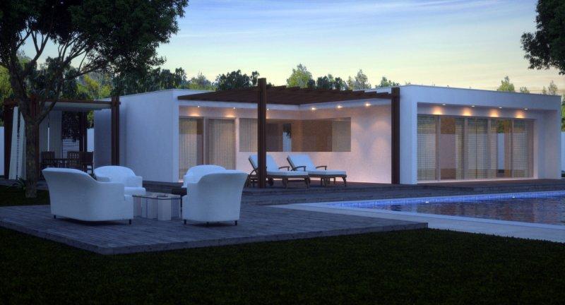 Villa moderna realizzata in bioedilizia a catania in vendita for Case architettura moderna
