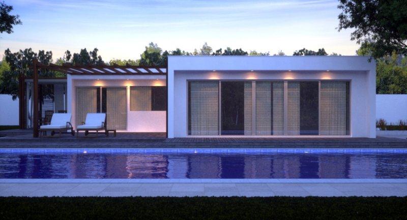 casa moderna ricca di vetrate con garage a catania in vendita