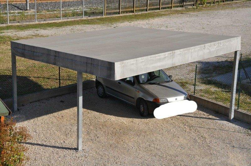 Stunning tettoia per auto ideale per struttura in ferro for Kit per posto auto coperto