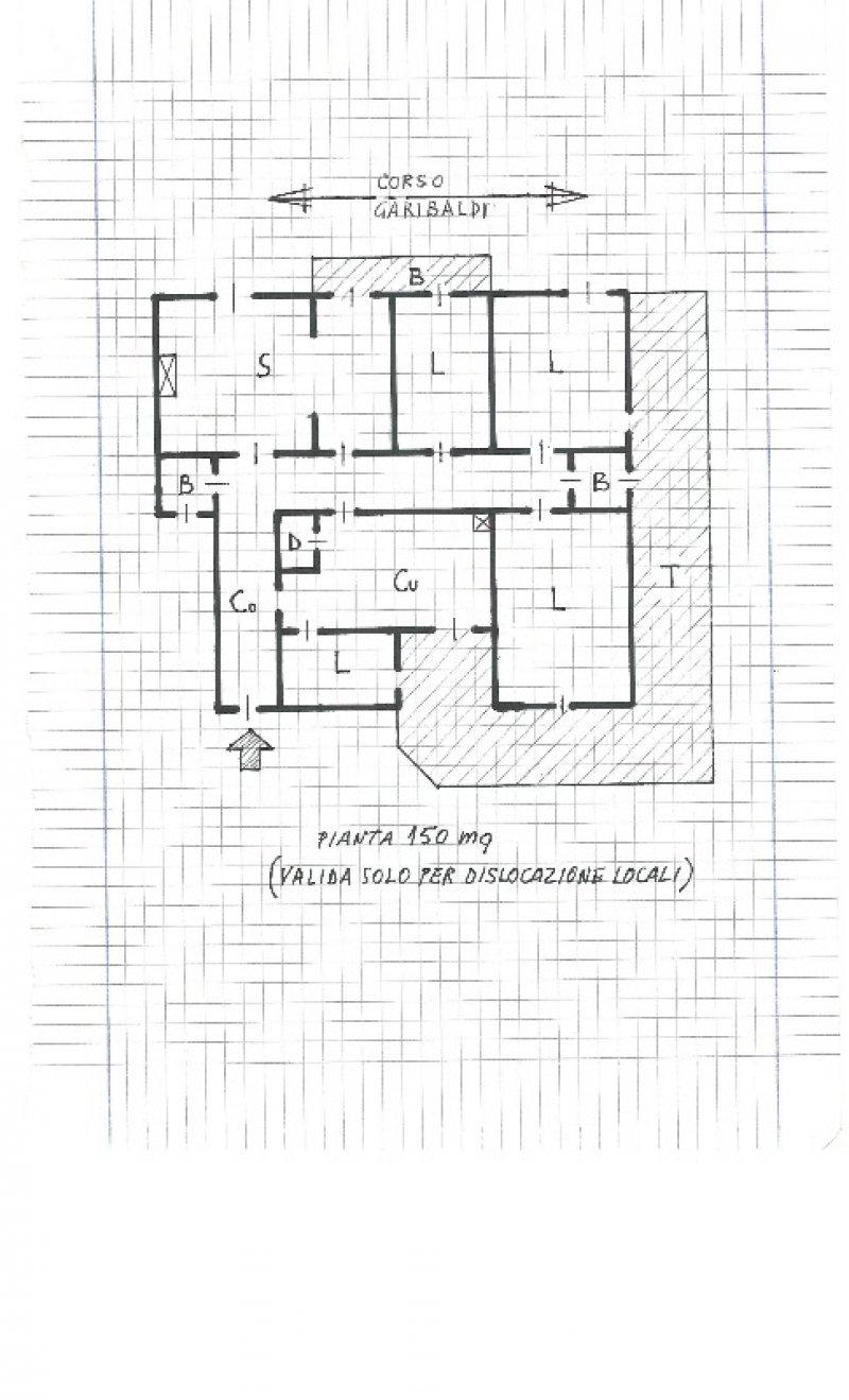 Casa 60 Mq Pianta foto 5 - colleferro appartamento con camino a roma in vendita