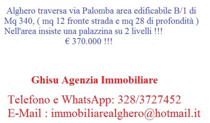 Alghero area edificabile a Sassari in Vendita