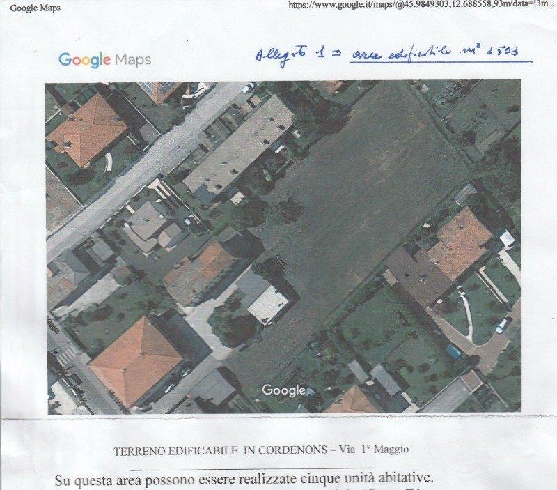 A Cordenons terreno edificabile a Pordenone in Vendita