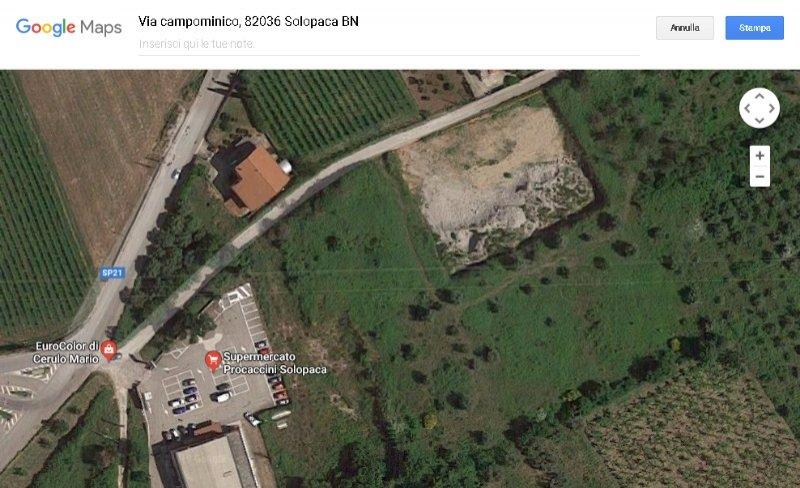 Solopaca terreno edificabile a Benevento in Vendita