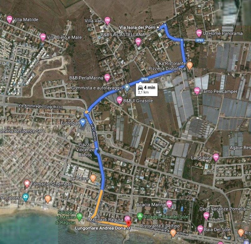 A marina di Ragusa lotto terreno edificabile a Ragusa in Vendita