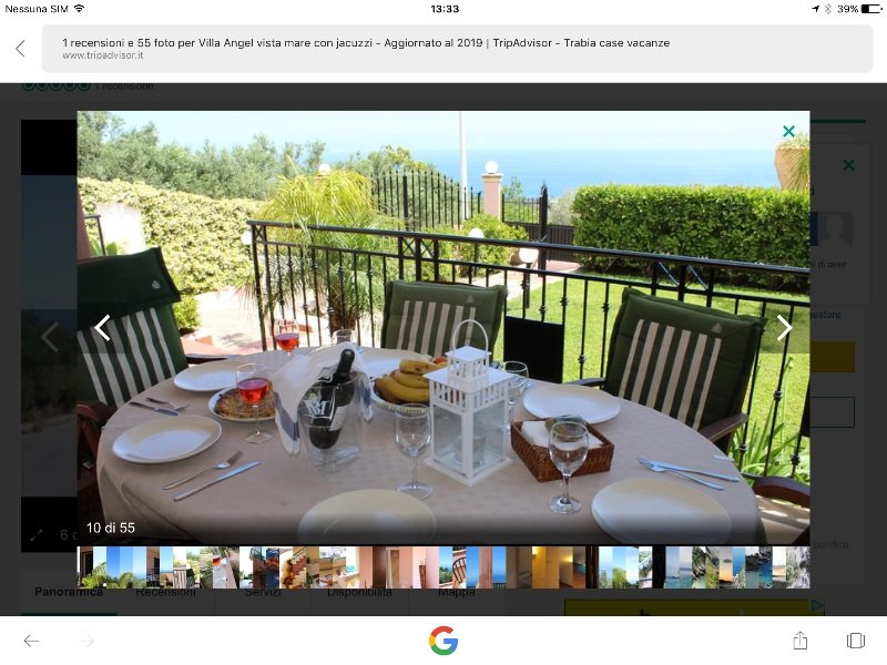 Trabia villa vacanza a Palermo in Affitto