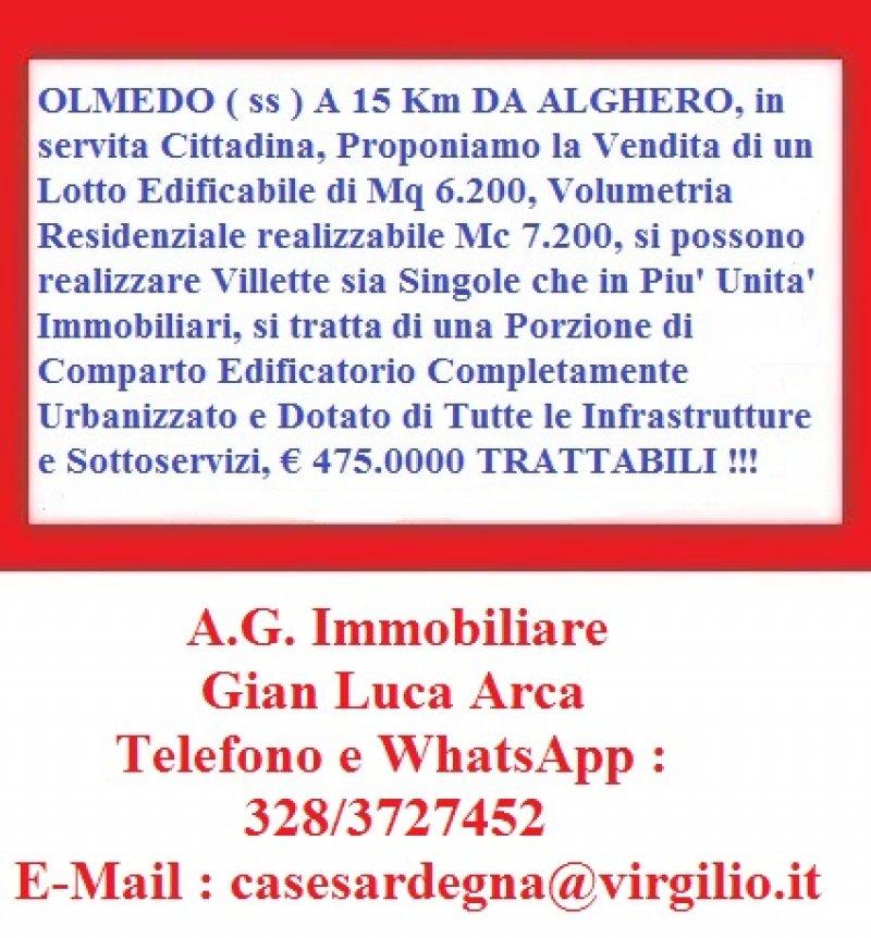 a Olmedo lotto edificabile a Sassari in Vendita