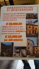 Annuncio vendita Ornavasso 2 case contigue ma indipendenti