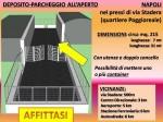 Annuncio affitto Napoli area recintata con utenze