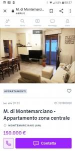 Annuncio vendita Montemarciano appartamento con vasca idromassaggio